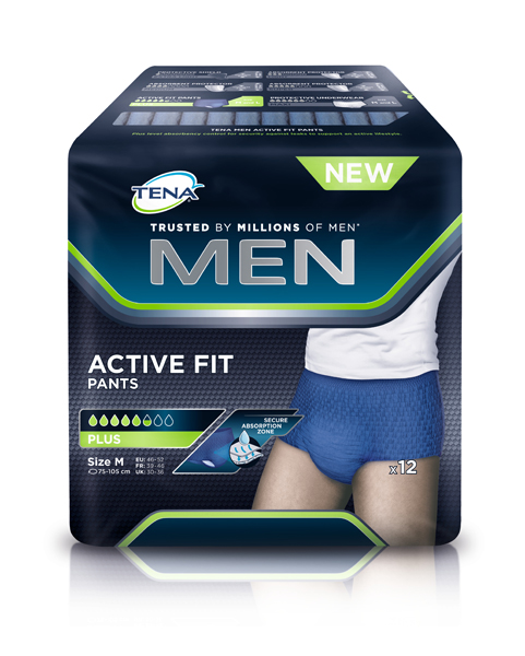 Bleie Tena Men Pants Active Plus M 12pk blå