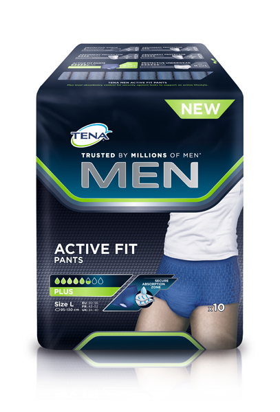 Bleie Tena Men Pants Active Plus L 10pk blå