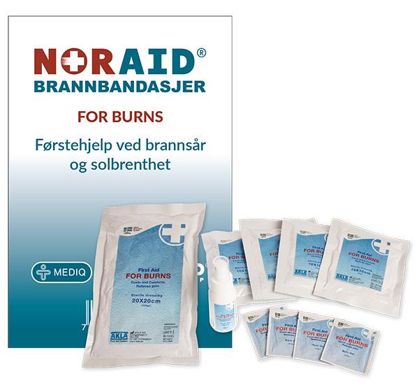 Bandasjepakke Noraid for brannsår og solbrenthet