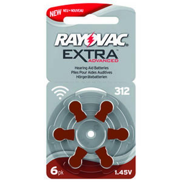 Batteri høreapparat Rayovac Extra Advanced str 312