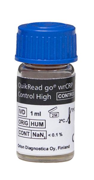 QuikRead Go wrCRP kontroll høy 1ml
