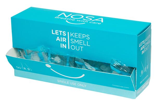 Nesepropp NOSA lukthemmer menthol enkeltpk 50stk