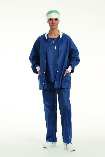 Varmejakke Extra Comfort lang erm mørk blå XL