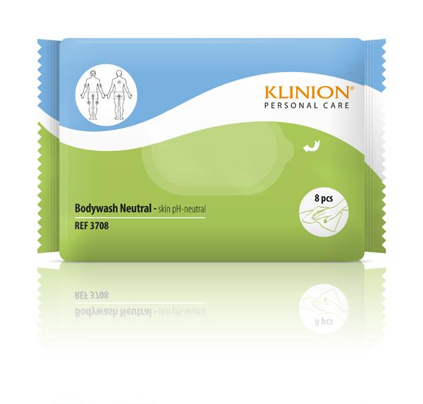 Våtklut Klinion Bodywash nøytral 8pk