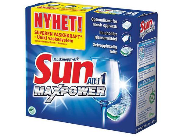 Maskinoppvask SUN Alt i 1 Max Power 46 tabletter