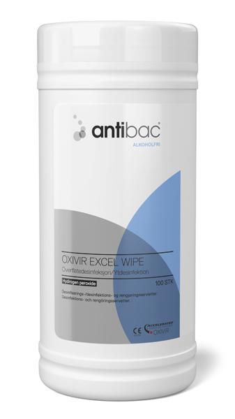 Desinfeksjon Antibac alkoholfri serv overfl 100stk