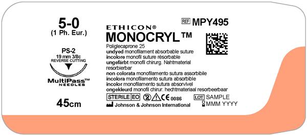 Sutur Monocryl MPY495 5-0 PS-2 45cm ufarget