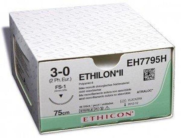 Sutur Ethilon 669H 3-0 FS-1 75cm sort