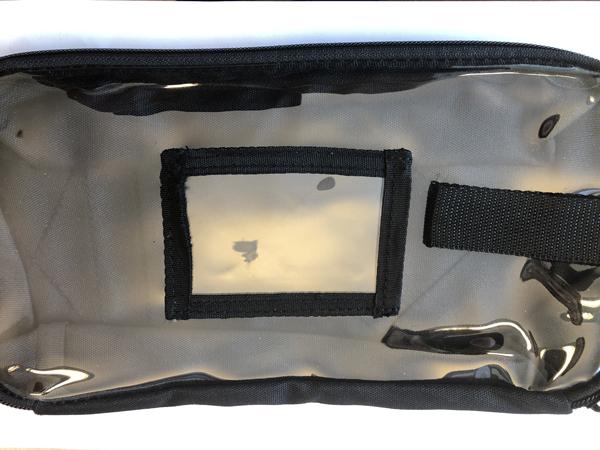 Førstehjelp lomme til ryggsekk/bag sort Middels/M