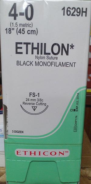 Sutur Ethilon 1629H 4-0 FS-1 45cm sort