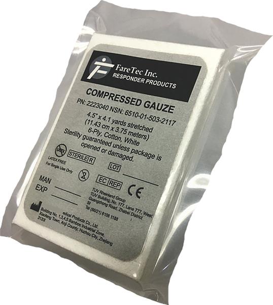 Førstehjelp gasbind Z-folded 11,5cmx3,75m