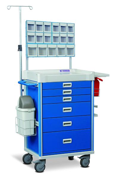 Anestesi prosedyrevogn MX37ANE m tilbehør Blå