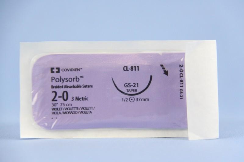 Sutur Polysorb 2-0 VIO GS21 75cm