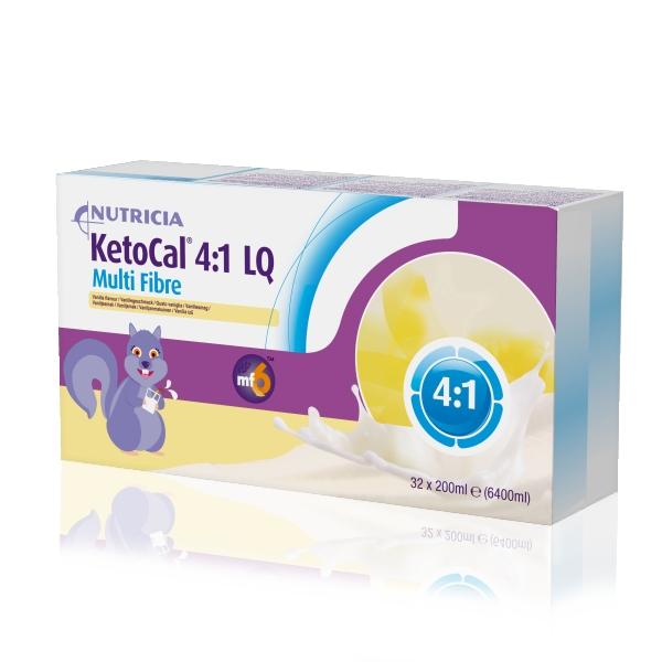Tilskudd Ketocal 4:1 LQ vanilje 200ml 32pk