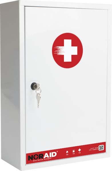Førstehjelp Noraid medisinskap u/innh 46x30x14cm
