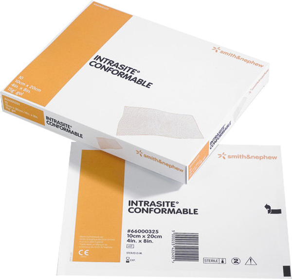 Kompress sårgel Intrasite Conformable 10x10cm