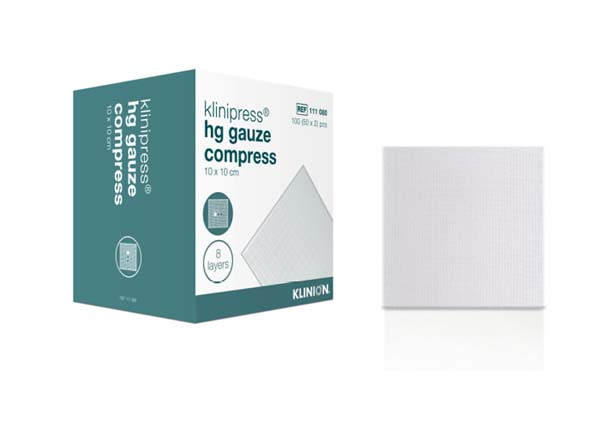 Kompress gas Klinion 10x10cm 8lag 2pk
