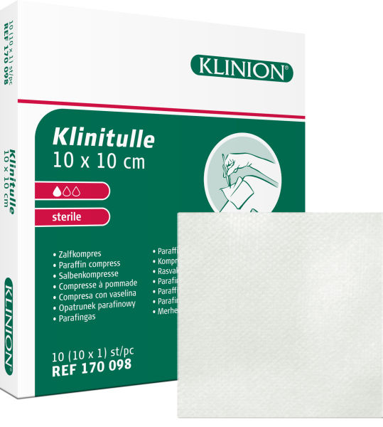 Kompress vaselin Klinion Klinitulle 10x10cm