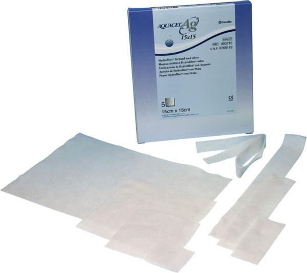 Bandasje sølv Aquacel AG 5x5cm