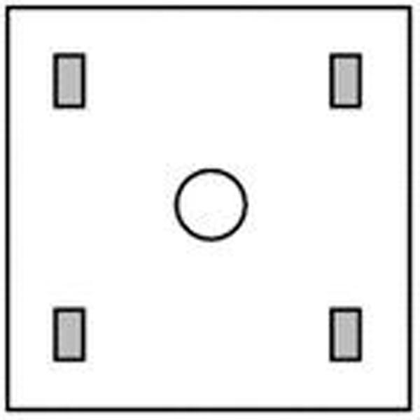 Oppdekning Steri-Drape 1077 90x90cm