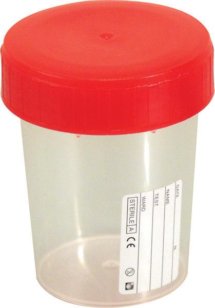 Urinprøveglass m/lokk 180ml