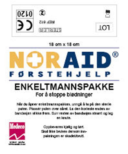 Førstehjelp Noraid enkeltmannspakke 18cmx18cm