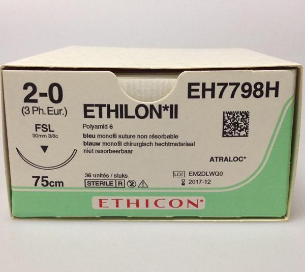 Sutur Ethilon EH7798H 2-0 FSL 75cm