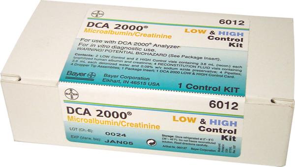 DCA 2000 Microalbumin/kreatinin kontroll
