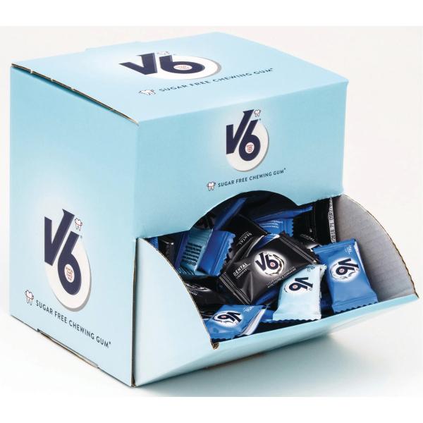 Tyggegummi V6 assortert smak m/display