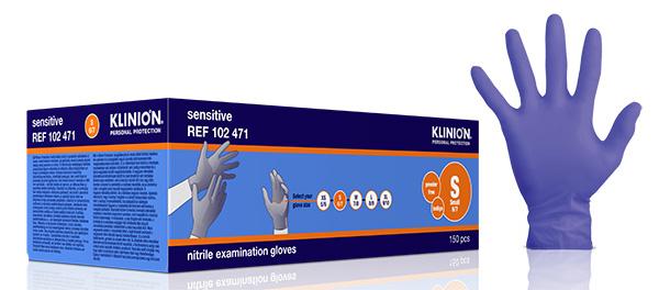 Hanske nitril Klinion Sensitiv acc fri kort S