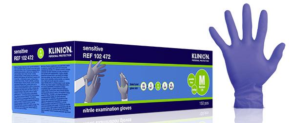 Hanske nitril Klinion Sensitiv acc fri kort M