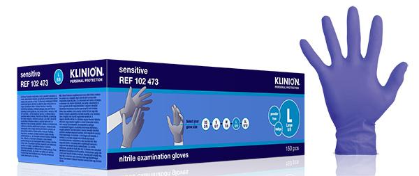 Hanske nitril Klinion Sensitiv acc fri kort L