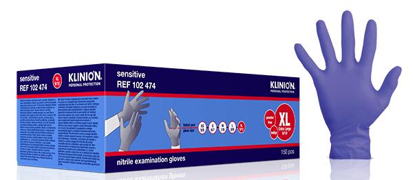 Hanske nitril Klinion Sensitiv acc fri kort XL