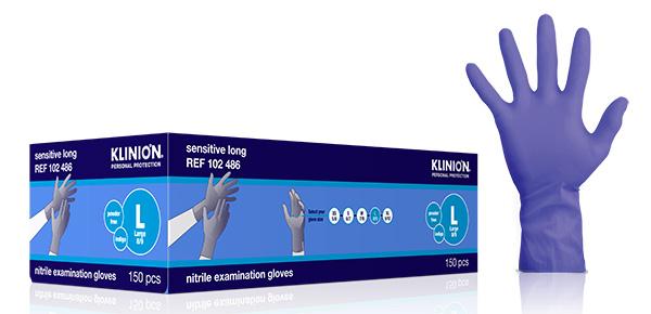 Hanske nitril Klinion Sensitiv acc fri lang L
