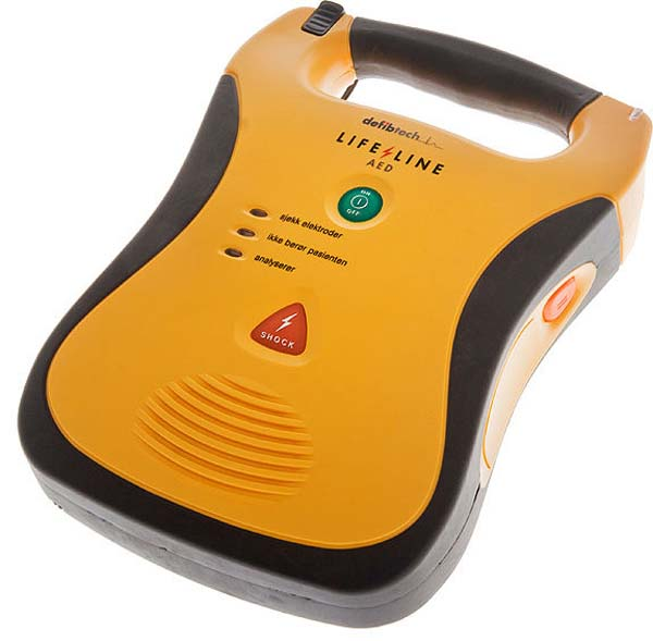 Hjertestarter Lifeline AED 5 års batteri