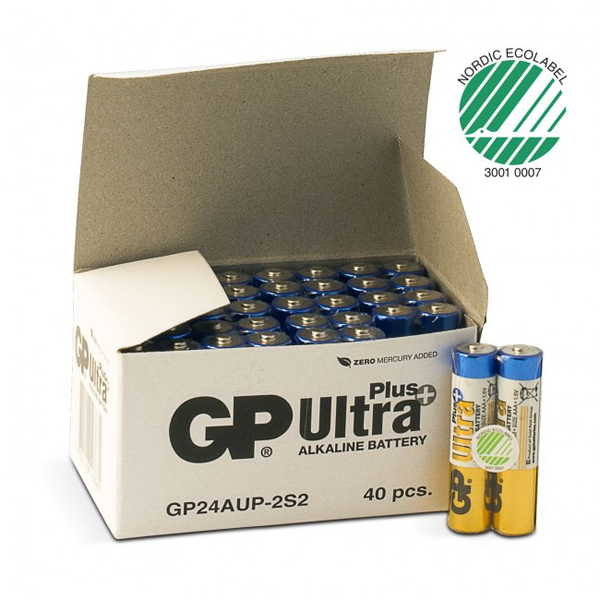 Batteri alkaline GP Ultra Plus AAA 1,5V LR03