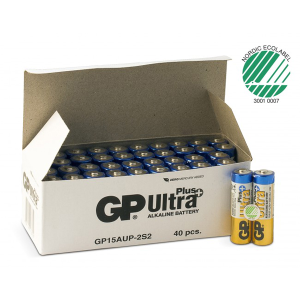 Batteri alkaline GP Ultra Plus AA 1,5V LR6