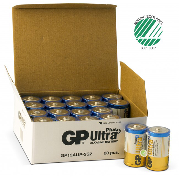 Batteri alkaline GP Ultra Plus D 1,5V LR20/D