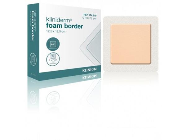 Bandasje skum Kliniderm foam border 15x15cm