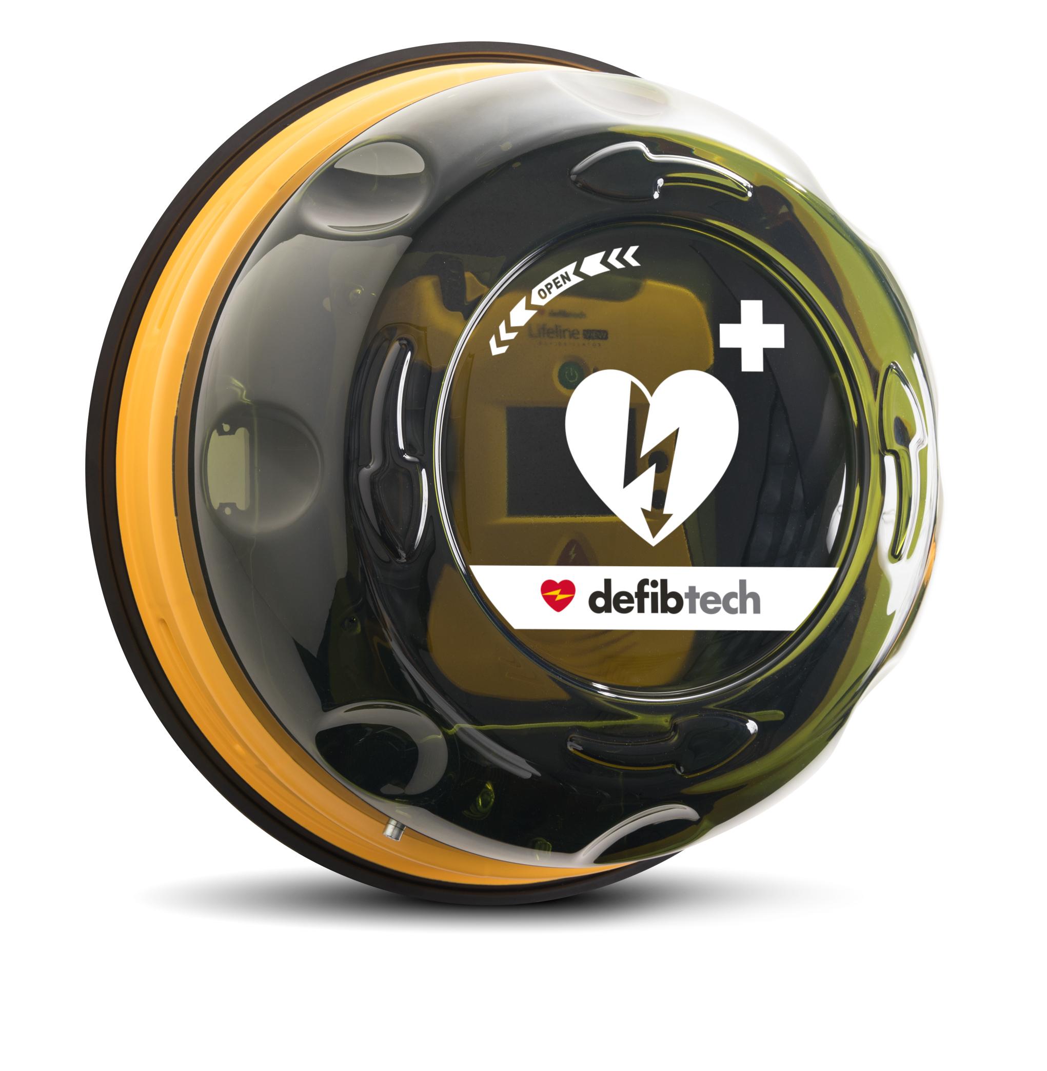 Hjertestarter skap Defibtech Rotaid innendørs