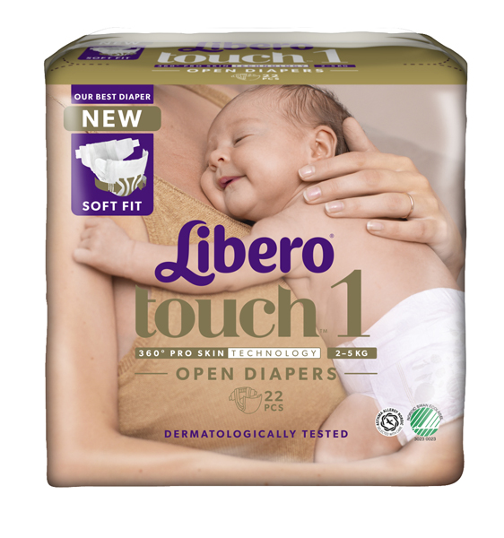 Bleie barn Libero Touch 1 2-5kg 22pk