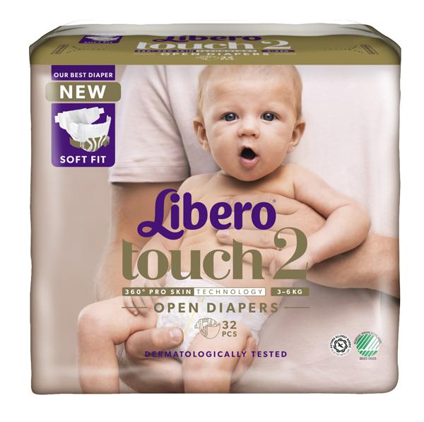 Bleie barn Libero Touch 2 3-6kg 32pk