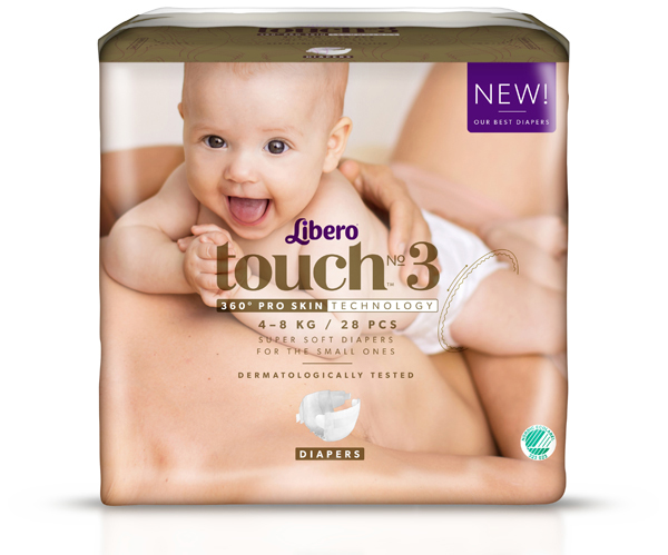 Bleie barn Libero Touch 3 Open 4-8kg 28pk