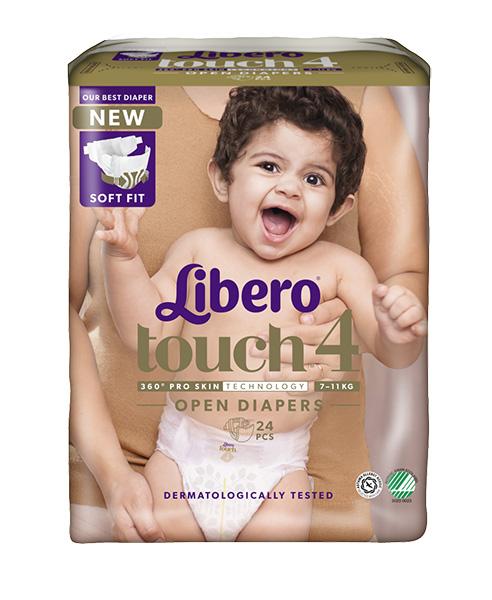 Bleie barn Libero Touch 4 Open 7-11kg 24pk