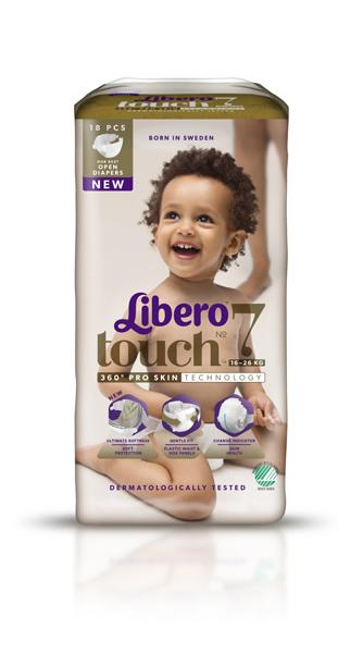 Bleie barn Libero Touch 7 Open 16-26kg 20pk