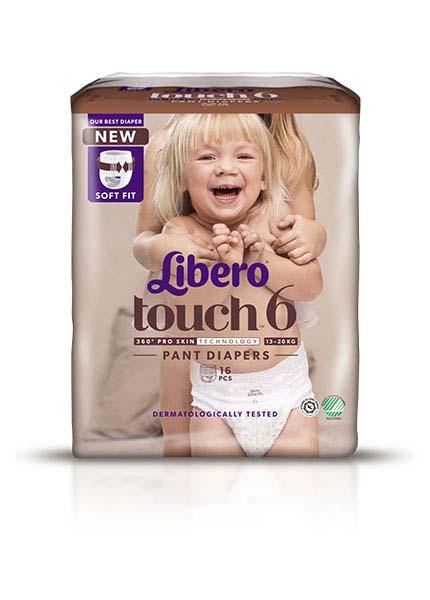 Bleie barn Libero Touch Pant 6 13-20kg 16pk