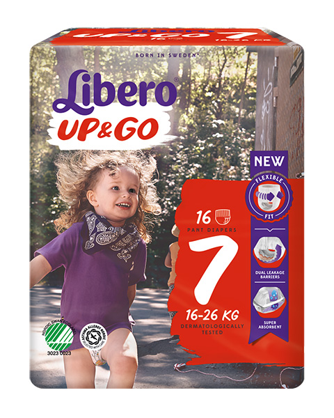 Bleie barn Libero Up&Go 7 16-26kg 16pk