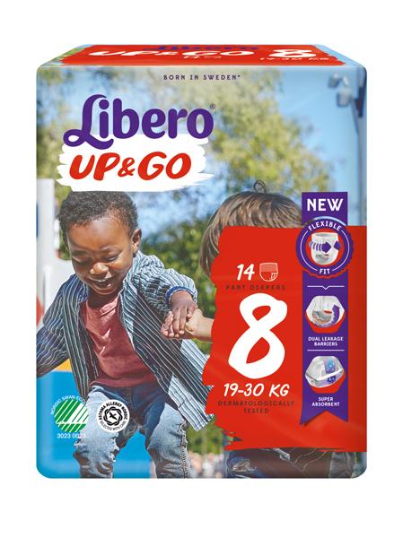 Bleie barn Libero Up&Go 8 19-30kg 14pk