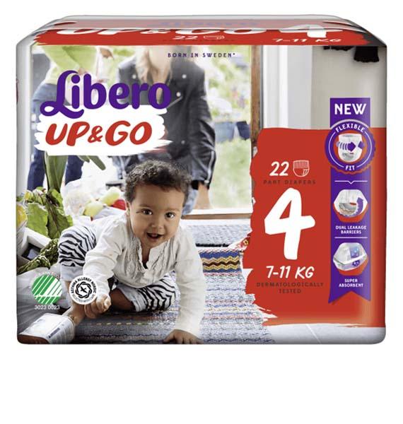 Bleie barn Libero Up & Go 4 22pk