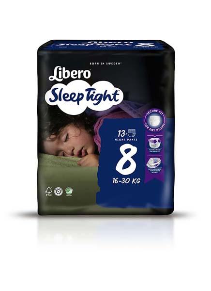 Bleie barn Libero Sleep Tight 8 13pk